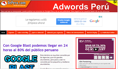 imagen de un Adwords en Red Google Display